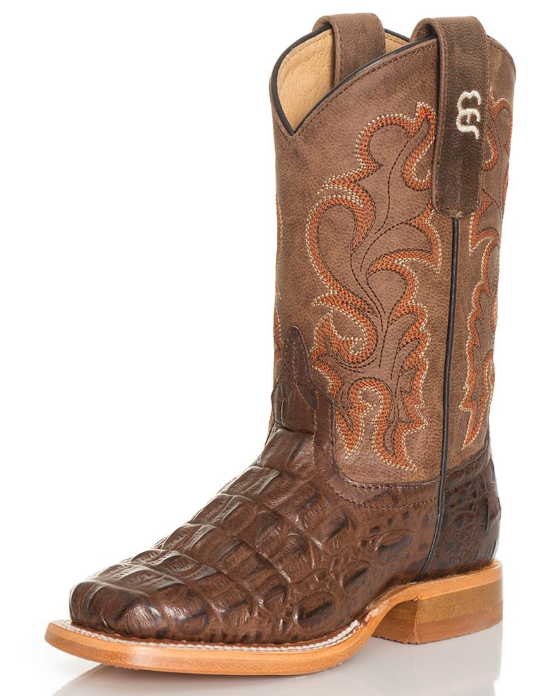 Anderson Bean Kids Nile Print Boots - Chocolate