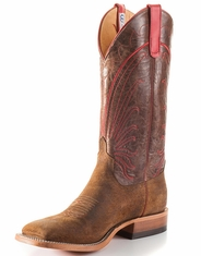 Anderson Bean Men's Square Toe Boar Boots - Red