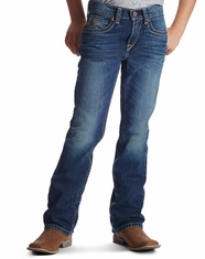 Ariat Boy's B5 Slim Straight Leg Jeans - Medium Wash (Closeout)