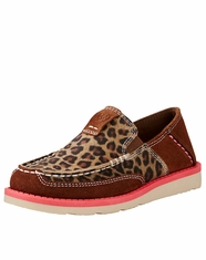 Ariat Children's Cheetah Print Cruiser Shoe - Brown