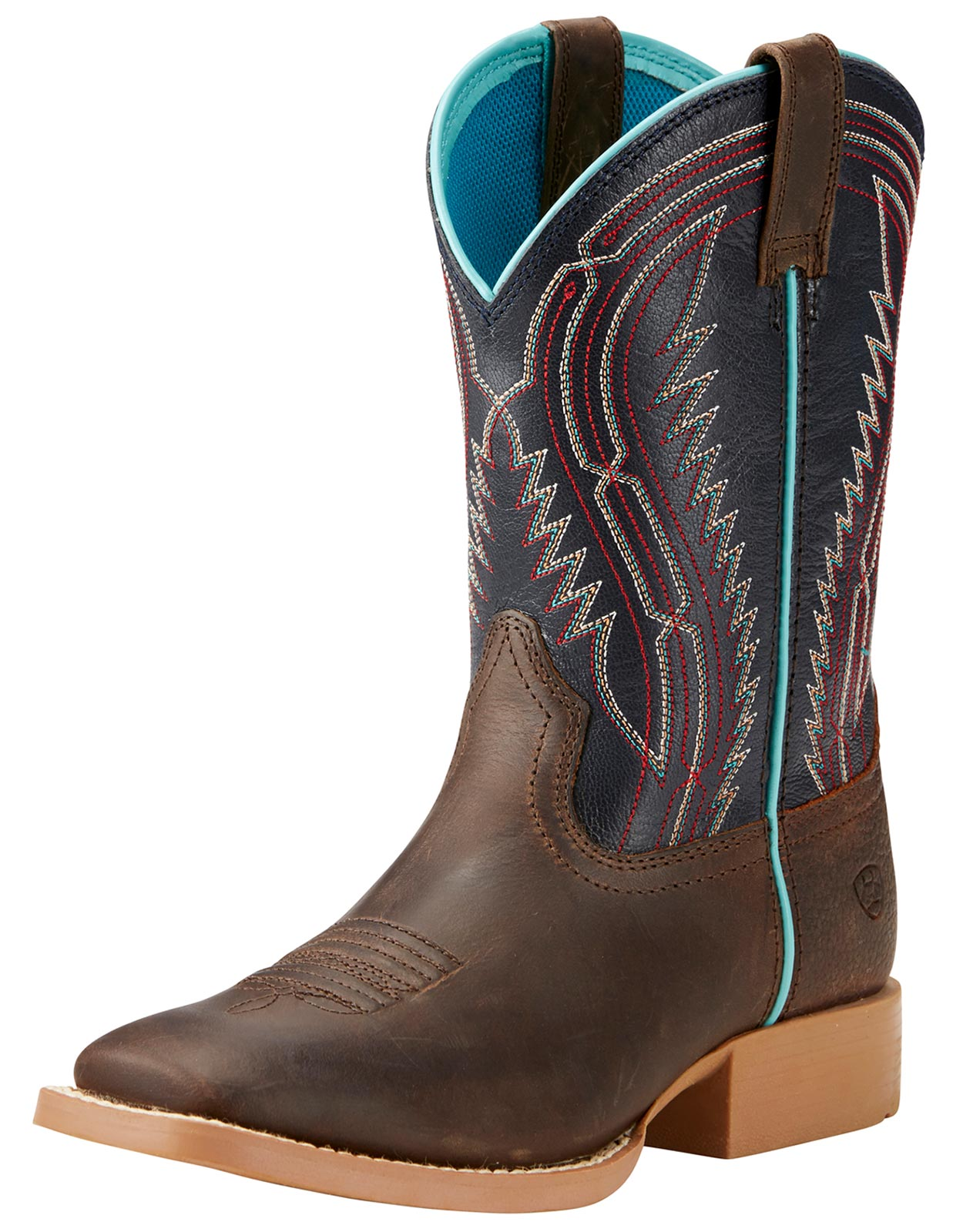 Ariat Children's Chute Boss Square Toe Cowboy Boots - Brown
