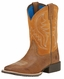 Ariat Children's Hybrid Rancher Square Toe Cowboy Boots - Rustic Bark/Tan (Closeout)