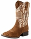 Ariat Children's Patriot Square Toe Cowboy Boots - Brown Camo