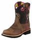 Ariat Girl's Fatbaby Cowgirl Boots - Brown/Mossy Oak Camo (Closeout)