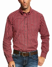 Ariat Men's Benton Long Sleeve Performance Plaid Button Down Shirt - Orange