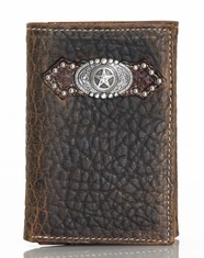 Ariat Men's Bullhide Tri-Fold Wallet - Brown