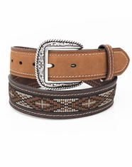 Ariat Men's Cross Ribbon Overlay Belt - Brown