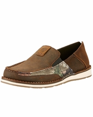 Ariat Men's Cruiser Camo Slip-On Shoes - Brown (Closeout)