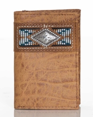 Ariat Men's Gator Print Tri-Fold Wallet