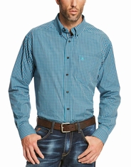 Ariat Men's Long Sleeve Check Button Down Shirt - Blue