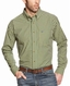 Ariat Men's Long Sleeve Classic Fit Plaid Button Down Shirt - Green (Closeout)