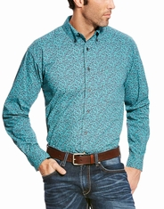 Ariat Men's Long Sleeve Paisley Button Down Shirt - Blue
