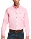 Ariat Men's Long Sleeve Solid Twill Button Down Shirt - Prism Pink
