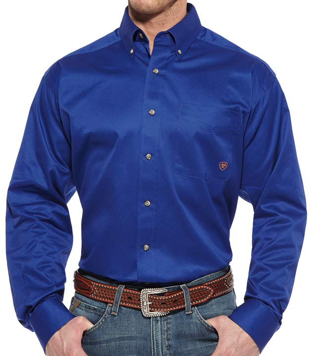 Ariat Men 39 S Long Sleeve Solid Twill Button Down Western