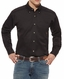 Ariat Men's Long Sleeve Solid Twill Shirt - Black