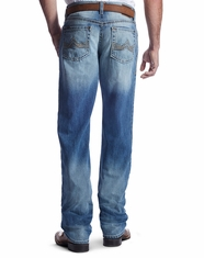 Ariat Men's M2 Ashwood Low Rise Relaxed Boot Cut Jeans - Light Wash (Closeout)
