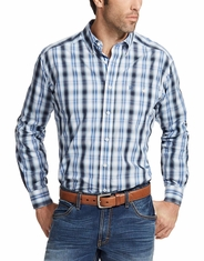Ariat Men's Relentless Long Sleeve Plaid Button Down Shirt - Blue