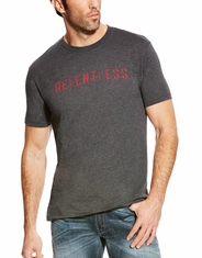 Ariat Men's Relentless Short Sleeve Logo Tee Shirt - Grey