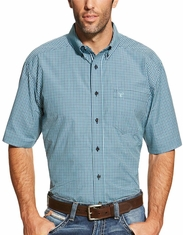 Ariat Men's Short Sleeve Check Button Down Shirt - Multi