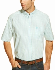 Ariat Men's Short Sleeve Dixon Button Down Shirt - White (Closeout)