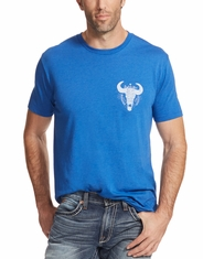 Ariat Men's Short Sleeve Print Tee Shirt - Blue