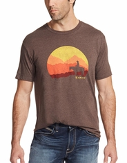 Ariat Men's Short Sleeve Print Tee Shirt - Brown
