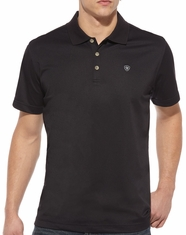 Ariat Men's Short Sleeve Solid Tek Polo Shirt - Black