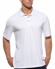 Ariat Men's Short Sleeve Solid Tek Polo Shirt - White