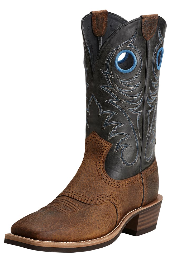Ariat Men's Heritage Roughstock Cowboy Boots - Earth/Black