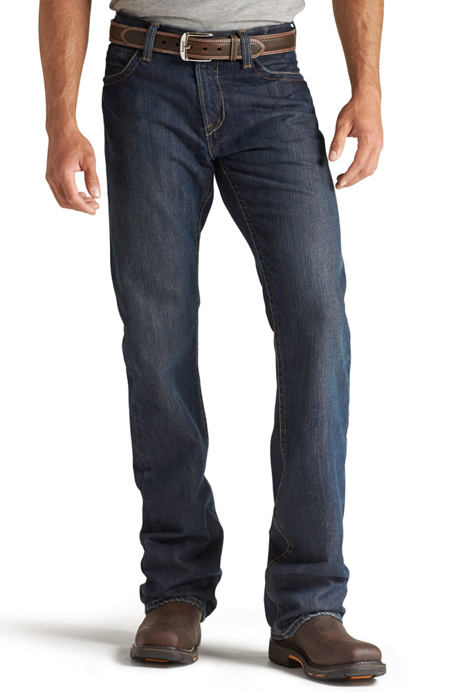 Ariat Mens M4 Fire Resistant Low Rise Boot Cut Jeans - Shale