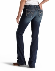 Ariat Women's R.E.A.L. Stretch Mid Rise Slim Fit Boot Cut Jeans - Spitfire