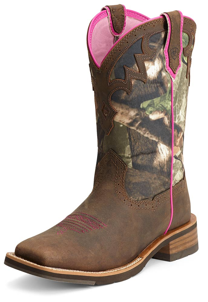Ariat Womens Unbridled Boots - Powder Brown/Camo