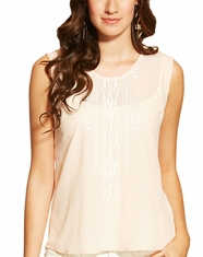 Ariat Women's Abbott Sleeveless Split Back Top - Candid Peach (Closeout)