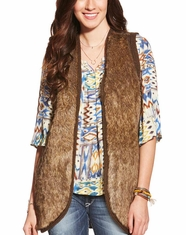 Ariat Women's Aileen Faux Fur Vest - Brown