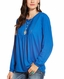 Ariat Women's Ardee Long Sleeve Button Front Top - Blue