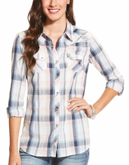 Ariat Women's Blair Long Sleeve Plaid Snap Shirt - Pink