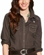 Ariat Women's Charlotte Long Sleeve Embroidered Snap Shirt - Lava Beach (Closeout)
