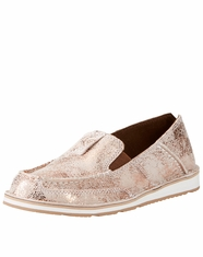 Ariat Women's Cruiser Metallic Slip-On Shoes - Golden Pink