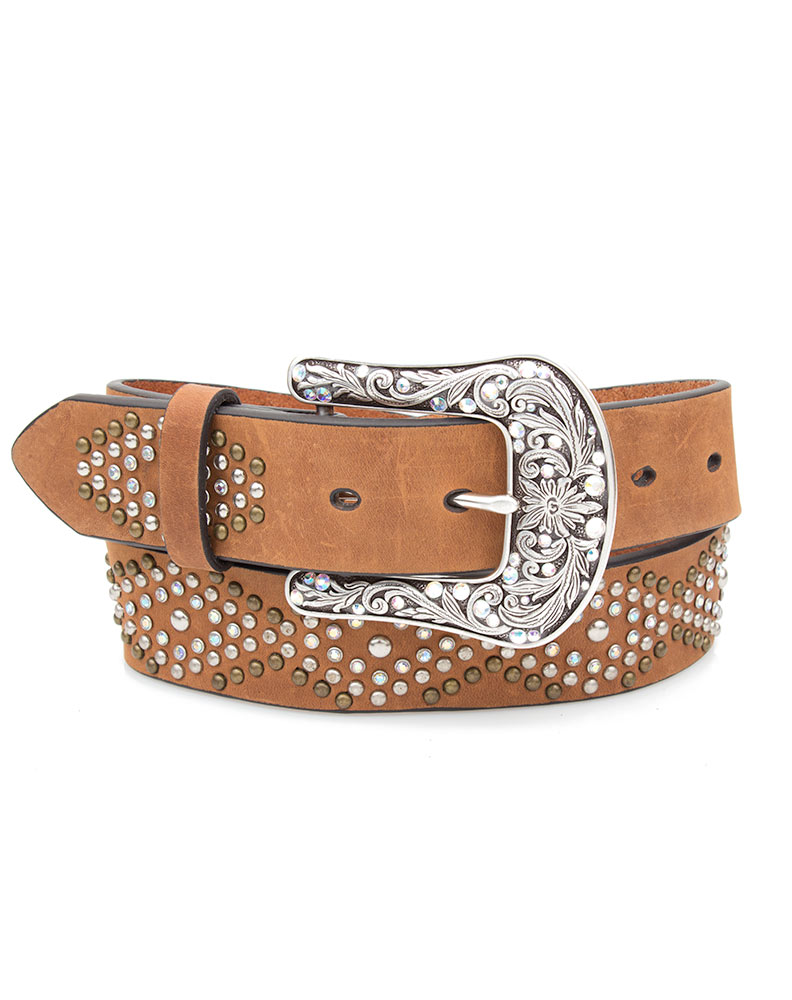 Ariat Women's Diamond Pattern Belt - Tan