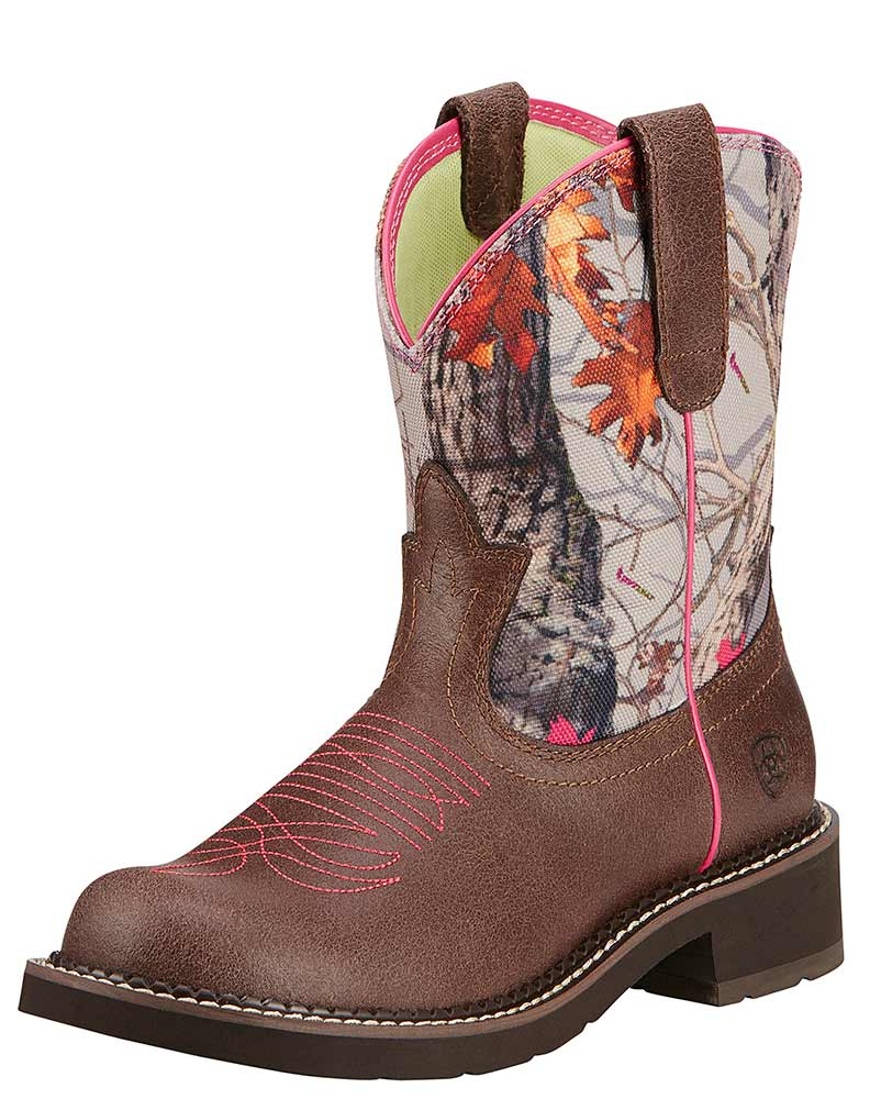 Ariat Women's Fatbaby Heritage Vivid Boots - Grained Russet/Hot Leaf