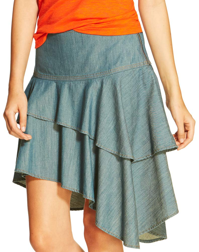 Ariat Women's Haley Chambray Short Tier Skirt - Riviera (Closeout)