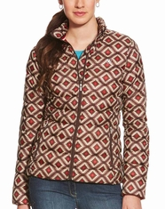 Ariat Women's Ideal Down Aztec Print Jacket - Multi (Closeout)