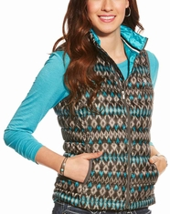 Ariat Women's Ideal Down Ikat Print Vest - Multi