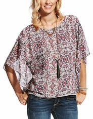 Ariat Women's Jessa Short Sleeve Print Top - Multi