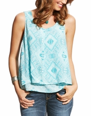 Ariat Women's JoJo Sleeveless Print Top - Blue