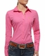 Ariat Women's Kirby Long Sleeve Solid Button Down Shirt - Pink