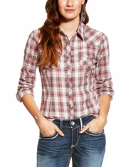 Ariat Women's Leona Long Sleeve Plaid Snap Shirt - Multi