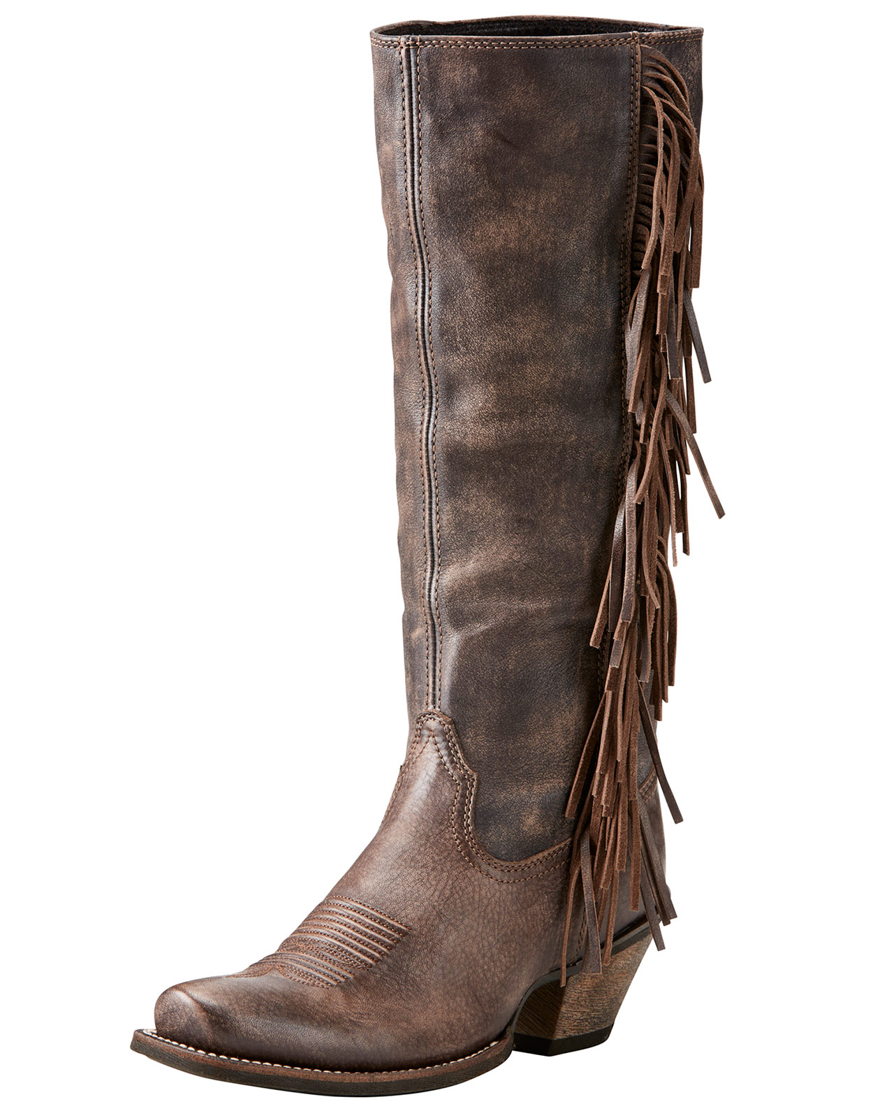 ariat s leyton 14 quot square toe boots chocolate brown