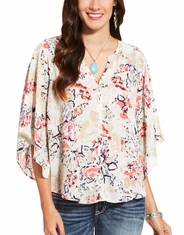 Ariat Women's Luna Short Sleeve Print Top - Pink