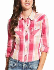 Ariat Women's Margarita Long Sleeve Plaid Snap Shirt - Multi